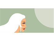 An illustration of a woman with long white hair (thumbnail)