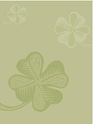 Four leaf clover on green background (thumbnail)