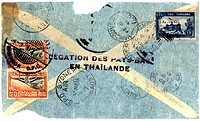 Vintage envelope to Sydney via Thialand (thumbnail)