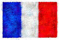 Drawing of the flag of France