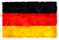 Drawing of the flag of Germany