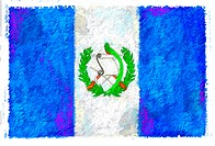 Drawing of the flag of Guatemala