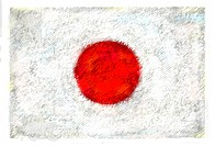 Drawing of the flag of Japan