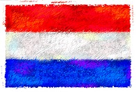 Drawing of the flag of Luxembourg