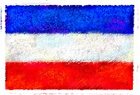 Drawing of the flag of Serbia & Montenegro