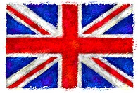 Drawing of the flag of The United Kingdom
