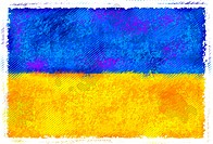 Drawing of the flag of Ukraine