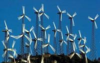 Wind farm. Tehachapi Pass, Southern California.