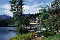 Hotel, at, the, Rissersee, Bavaria, Germany