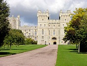 South Wing Façade Windsor Castle From The Long Walk Berkshire England United Kingdom