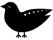 Black and white picture of a bird