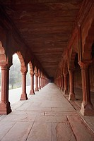 Empty walkway in a courtyard, Taj Mahal, Agra, Uttar Pradesh, India