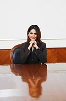 Portrait of a businesswoman sitting in a conference room