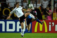Sport, football, world championships, semi final, Germany versus Italia, 0:2, Dortmund, 4 7 2006, from left to right, Sebastian Kehl, Fabio Cannavaro,...
