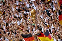 Sport, football, world championships, eighth final, Germany versus Sweden, 2:0, Munich, 24 6 2006, German fan, fans, jubilation, sports, match, world ...