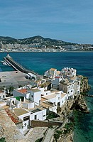 Sa Penya fishermen´s quarter, Ibiza. Balearic Islands, Spain