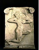 fine arts, ancient world, Greece, sculpture, relief, hoplite runner stele, circa 520/510 BC, Attic marble, National Museum Athens, sport, sports, athl...
