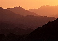 Sunset in the Sinai desert, Egypt