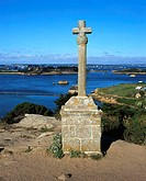 Celtic cross at Bréhat, Brittany, France