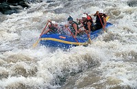Rafting on the Pacuare river in Costa Rica, one of the few untouched rivers in the pristine rainforest of Central-America