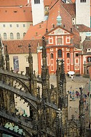 View from Bell Tower, St Vitus's Cathedral, Prague Castle, Prague, Czech Republic