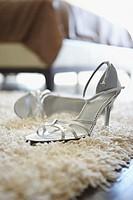 High heels on a rug