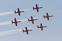 Patrulla Águila, Spanish Air Force aerobatic demonstration team, flying C-101 Aviojet airplanes