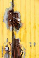Locked metal gate
