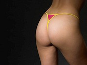 Woman wearing thong