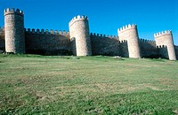 City walls, Avila. Castilla-Leon, Spain