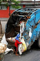 Collecting garbage. Manila. Philippines