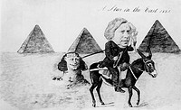 Reverend Charles Pritchard 1808-1893, British astronomer  This caricature, titled ´A Star in the East 1883´, shows Pritchard on his expedition to Egyp...