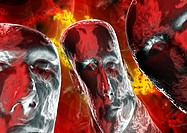 Mental illness  Conceptual computer artwork of distorted faces depicting psychosis  Psychosis is a mental disorder characterised by delusions, halluci...