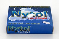 Nytol sleeping tablet on top of its box  Nytol is a brand name for diphenhydramine, which belongs to a class of drugs known as sedating histamines  It...