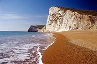 Beach at Bat´s Head, Dorset, England, UK