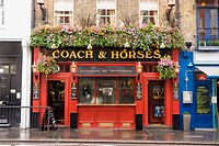 UK, London. Covent Garden. Coach and Horses pub