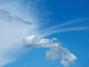 Cloud-heavens, M, text-space hang heavens, clouds, Cirrus-Wolken, Cirrus, ease,