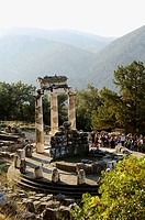 Greece, Delphi, Tholos, ruins, Europe, mainland, sight, landmarks, round-temples, temples, antique, historically, temple-ruin, remains, Tholos of the ...