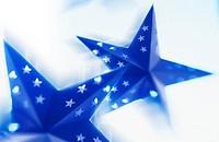 Stars, blue, detail, fuzziness, decoration, angular, asteroid, Dekosterne, Christmas-like, tradition, decorates, concept, Christmas, Christmas time, t...