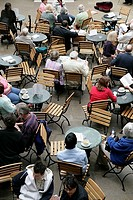 Great Britain, England, London, Covent guards Market hall cafe guests,