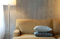 modern/contemporary loft interior of sofa and lamp