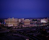USA, Nevada, Las Vegas, city-opinion, street-scene, twilight, series, North America, West coast, city, player-city, Las Vegas boulevard amusement-mile...