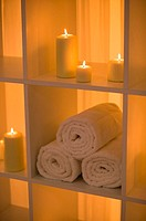 Candles and towels