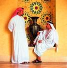 Arab men having a conversation