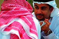 Arab men talking