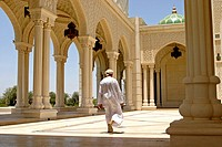 Man in Mosque in Seeb, Oman