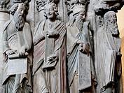 Detail of Pórtico de la Gloria, cathedral. Santiago de Compostela. La Coruña province, Spain