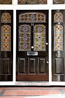 Front door with stained glass windows (thumbnail)