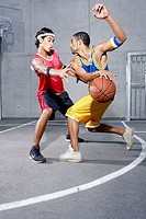 Streetball, Malcolm McEachin, Daniel Sheikh, pro-athletes, personality-rights, series, heeds people, men young two opponents athletes, players, athlet...