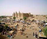 Great mosque and marketplace. Djenne. Mali